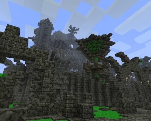Замок забвения в постапокалептическом стиле