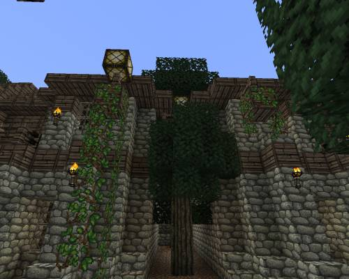 Жилой район - деревья между домами