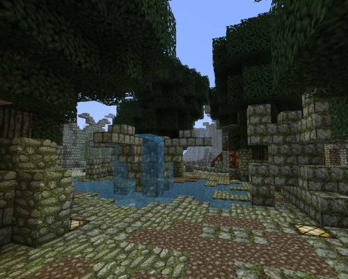 Развалины в городе забвения
