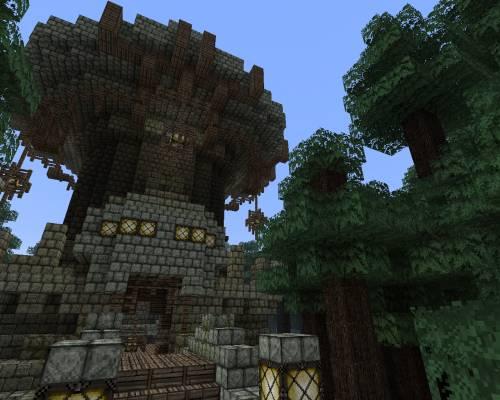 Башня в мрачном лесу