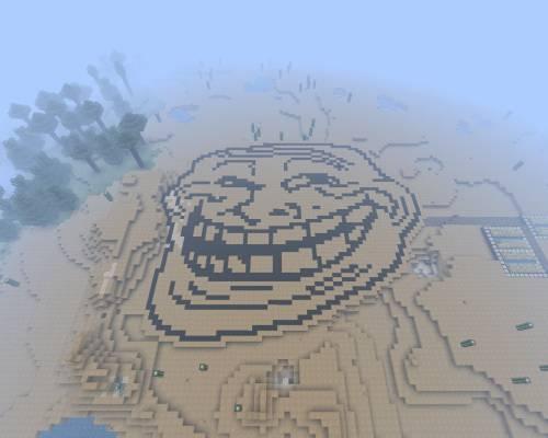 Trollface в МайнКрафте