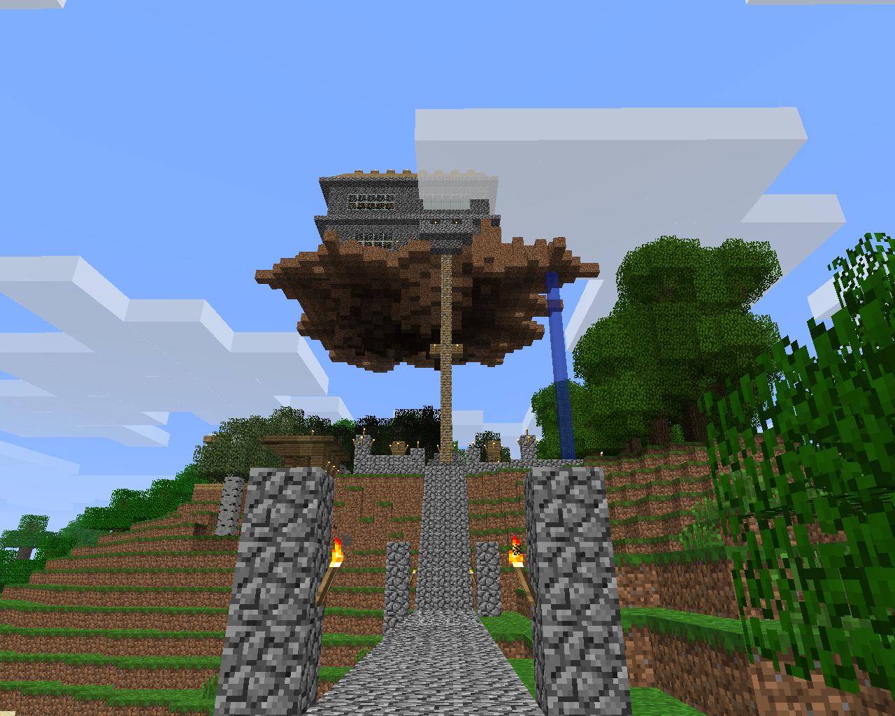 Парящий дом в MineCraft - Разные постройки - Построил его на приватном сервере.
